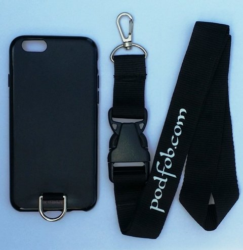 new arrival c8407 1d01d iPhone 6 (4.7 inch) Nonslip Protective Case and Neck Lanyard Black