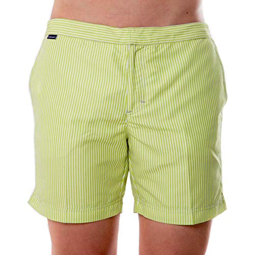 Blubarque Men's Blu Fit Premium Board Short Beachwear with Zipper Pocket (Regular and Extended Sizes) (Buru, XL)