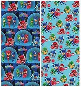 4 rollos de papel de regalo PJ Masks de 200 x 70 cm cada uno.