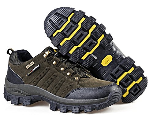 Herren Rutschfest Unisex Minetom Grün für Trekkingschuhe Sommer Schnürhalbschuh Gelb Frühling Sportschuhe Damen Outdoorschuhe Paare A q01qUpXwx