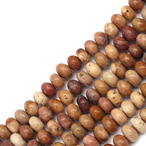 GEM-inside Agate Abacus Smooth Beads 6x8MM For Jewelry Making In 15 Inches