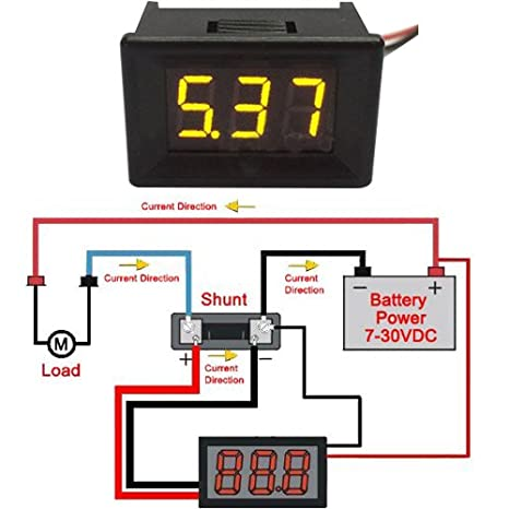 soondar variable precision 0 56 digital voltmeter gauge 2 4 30v 3v rh amazon ca AC Voltmeter Wiring -Diagram Hot Rod Wiring For Dummies
