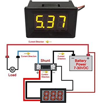 soondar variable precision 0 56 digital voltmeter gauge 2 4 30v 3v rh amazon ca Amp Meter Wiring Diagram Omega Speedometer Wiring