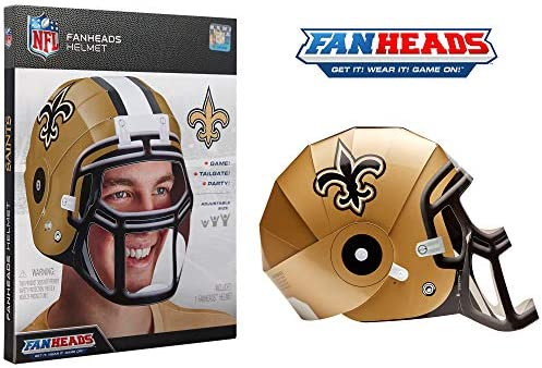 All Team Options Alumni One Size FanHeads Wearable College Football Helmets Students Official NCAA Merchandise for Fans Dorm Room Decor Reinforced Laminated Cardboard Adjustable Helmet