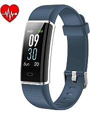 YAMAY Braccialetto Fitness Tracker Orologio Cardiofrequenzimetro da polso Smartwatch Donna Uomo Impermeabile IP68 Schermo a Colori Smart Watch Activity Tracker Pedometro per iPhone Samsung Android iOS