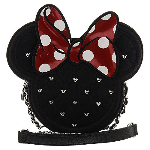 Loungefly Minnie Mouse Die Cut Crossbody (Black/Red)