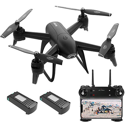 GoolRC Drone with Camera SG106 Smart Quadcopters, 22 Min Flight, 1080P HD Wide Angle WiFi FPV, Follow Me Selfie, V-Sign Photograph, Optical Flow, RC Helicopter for Beginners with 2 Battery