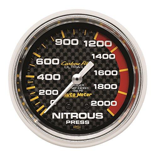 Auto Meter 4828 Carbon Fiber Mechanical Nitrous Pressure Gauge