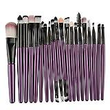 #5: Makeup Brush Set MAANGE 20 Pieces Professional Eye Makeup Cosmetics Brush Set(Purple)