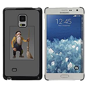 """For Samsung Galaxy Mega 5.8 Case , Viejo hombre enano gnomo gris Barba Broom"""" - Diseño Patrón Teléfono Caso Cubierta Case Bumper Duro Protección Case Cover Funda"""