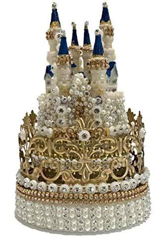 Crown Princess Castle Cake Topper Rhinestones Decoration For Birthday Sweet 16 Weddings 7