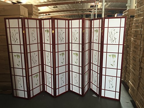 Coaster Oriental Square Style Room Screen 8 Panel - Cherry