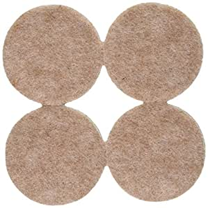 Stanley Hardware S845-265 V1722 1-1/2-Inch Heavy Duty Round Felt Pads, Oatmeal