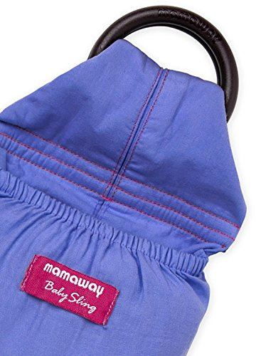 Mamaway Washed Out Baby Ring Sling for Infants and Newborns, Breastfeeding Privacy, Cerulean Blue