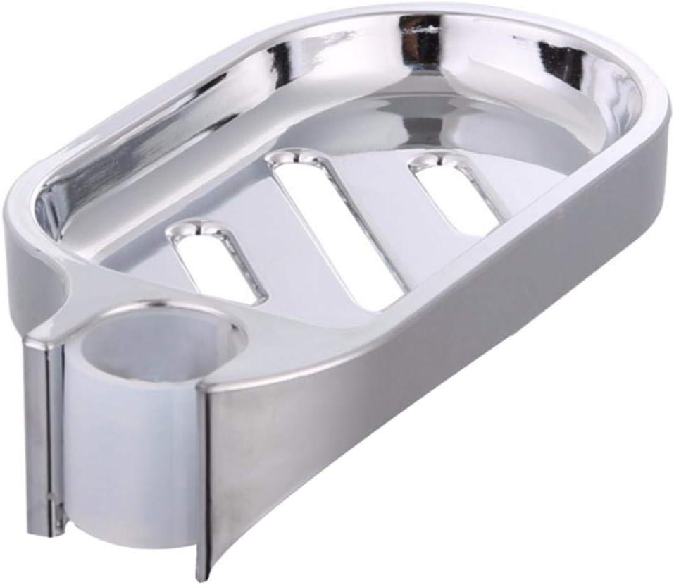 Yamybox Silver Soap Dish Adjustable Sprinkler Stand Shower Track Sliding Soap Board Bathroom Hardware Bathroom Soap Holder Soap Dish Bathroom Accessories