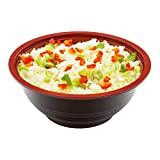 Small Asian Panda Microwavable 18-OZ Bowl - PP Black and Red with Clear Plastic Lid: Perfect for Catering Events and Restaurant Takeout – Disposable and Eco-Friendly – 200-CT