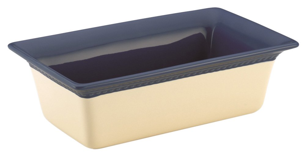Paula Deen Rustic Stoneware Southern Gathering 9-Inch by 5-Inch Loaf Baker, Blueberry