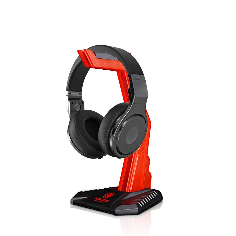 Gaming Headphone Cradle, Headset Bracket Stand Holder, Suitable for Gaming Headset, Head-Mounted Display Rack Headset Hanger Holder for Gamers (Red) Wisdoman