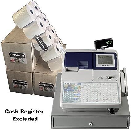 eposbits® marca rollos para SHARP UP700 UP-700 caja registradora – 60 rollos: Amazon.es: Oficina y papelería