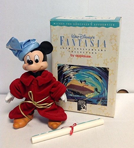 Fantasia 50th Anniversary Mickey Mouse Porcelain Figure Applause New in (Fantasy Porcelain)