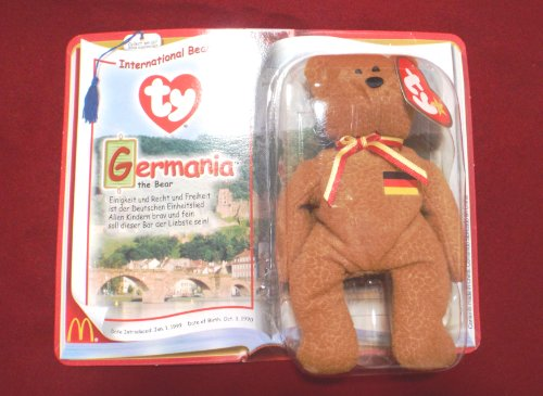 Germania the Bear McDonald s Ty Teenie Beanie SuperStar 2000 45ba2184d1ad