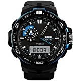 Skmei Analogue-Digital Black Dial Men'S Watch 1801-Blu