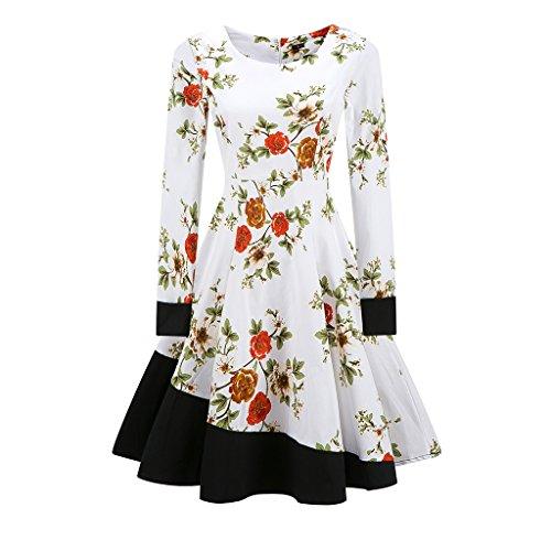 Vintage 1950 vestidos Otoño Vestido de manga larga mujer una línea Patchwork Retro Swing Rockabilly femenino vestido de fiesta vestido vestidos TQ000065