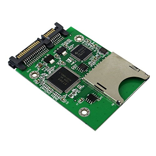 QNINE SD Card to SATA Adapter, SDHC SDXC MMC Memory Card Converter as HDD SSD Solid State Hard Disk Drive