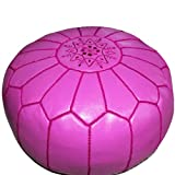 Stuffed Moroccan Pouf, Moroccan Footstool, Pouffe, Ottoman, Poof, Color Fushia