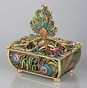 Jay Strongwater MacKenzie Feather Peacock Box SDH7315408