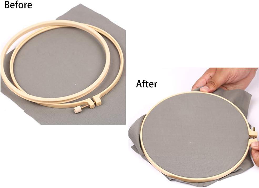 1 filo da cucito a forma di U per cucito fai da te Set di 7 anelli per ricamo a punto croce Lifreer in plastica 1 cuscinetto da cucito