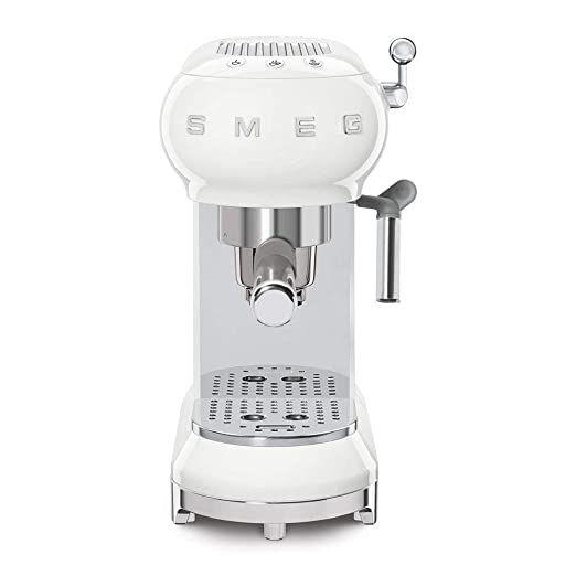 Smeg ECF01WHEU - Cafetera Espresso, Blanco: Amazon.es: Hogar