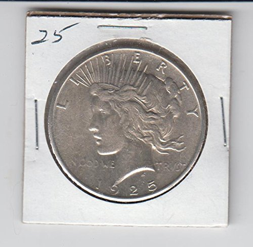 1925 Peace Silver Dollar About Uncirculated