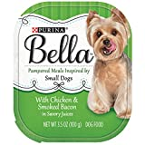 Purina Bella With Chicken & Smoked Bacon In Savory Juices Adult Wet Dog Food – (12) 3.5 Oz. Trays For Sale