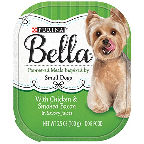 Purina Bella Pampered Meals With Chicken & Smoked Bacon in Savory Juices Adult Wet Dog Food – (12) 3.5 oz. Trays
