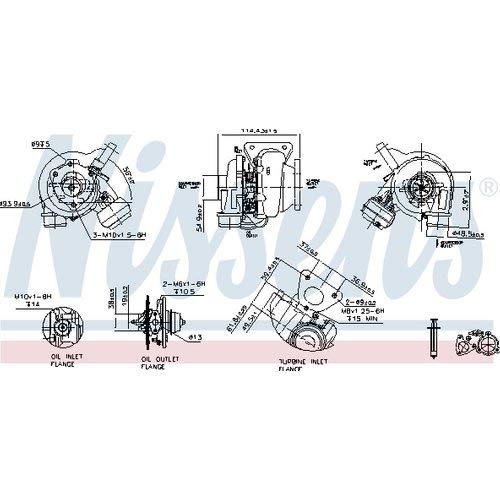 Nisss 93159 Turbo Charger: