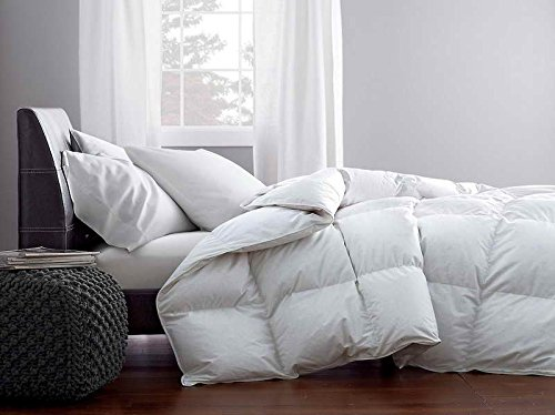 Premium Down European White Down Comforters, Medium Warmth, Hypoallergenic Ultra Clean Down, 233 TC, 100% Cotton (King 96