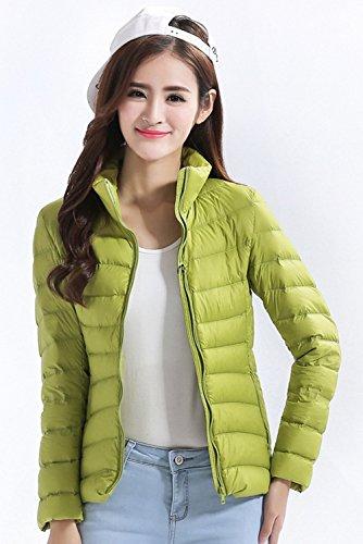 13 Santimon Womens Packable Color Down LightGreen Lightweight Stand Jacket Puffer Short Collar Available HqCxrzqd
