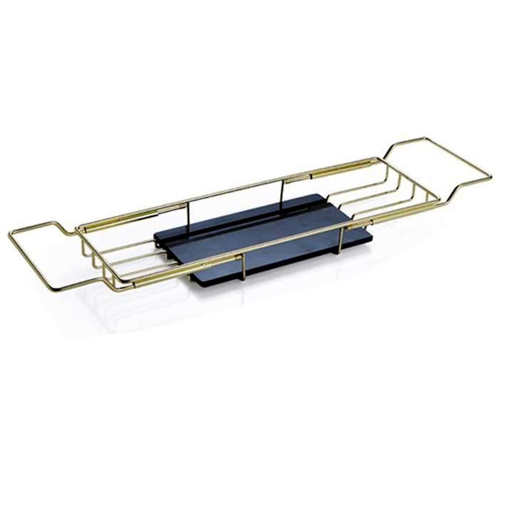 Bathroom Bathtub Caddy Telescopic tub Shelf Multi-Function Bathtub Shelf Hotel Bath tub Bracket Household Bathtub Tray (Color : Gold, Size : 16.570.5cm)