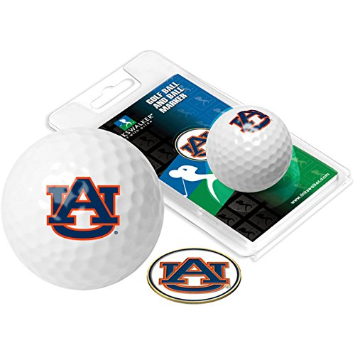 (Auburn Tigers - Golf Ball One Pack with Marker)