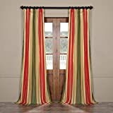 HPD HALF PRICE DRAPES Half Price Drapes PTSCH-13402-96 Faux Silk Taffeta Stripe Curtain, Orleans Review