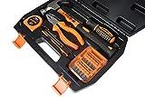 KSEIBI 145065 Household Garage Car Repair Tool Set 26 Pieces with Plastic Toolbox Storage Case