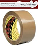 3M Scotch BUFF Brown Packaging Parcel Tape 50mm x 66m - Pack of 6