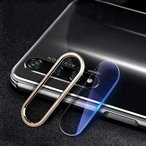 WTYD 電話アクセサリー 傷防止携帯電話メタルリアカメラレンズリング リアカメラレンズ保護フィルムセット用Huawei Hon