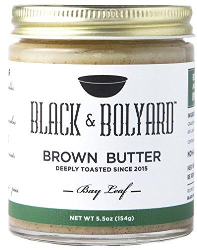 Black & Bolyard Bay Leaf Brown Butter - Non-GMO, Sugar-free, Grass-fed Butter - Caramelized & Seasoned w/ Sea Salt, Fresh Bay Leaves - Gluten Free Ghee Butter/Clarified Butter Alternative - 5.5 Ounces