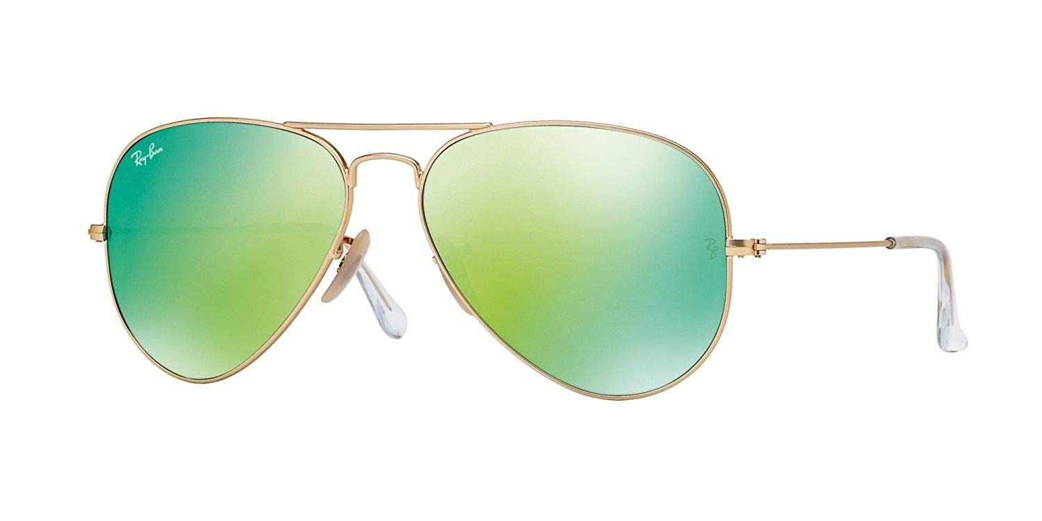 be9a79d3ee8f Amazon.com  RayBan - RB3025 112 19 Aviator Green Flash Lenses  Clothing