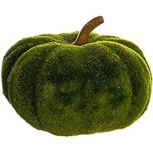 """7""""Hx9.5""""W Artificial Glittered Moss Pumpkin -Green (pack of 4)"""