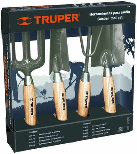 Truper 30642 - Kit de Herramientas de jardín con aro, cultivador, trasplantado, Pala: Amazon.es: Jardín