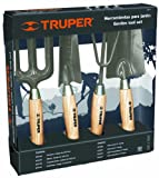 Truper 30642 6-Inch Garden Tool Kit with Hoe, Cultivator, Transplanted, Trowel