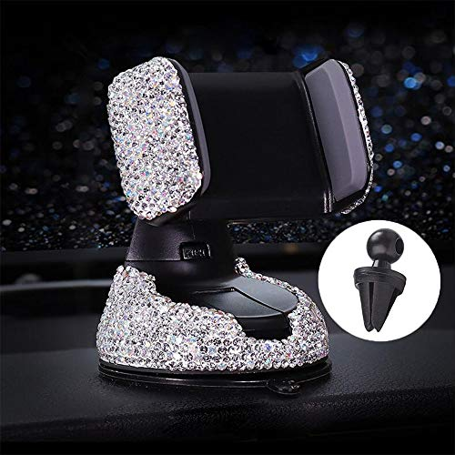Car Phone Holder Adjustable Universal Bling Strong Sticky Dashboard Air Vent Base Car Air Vent Phone Mount Dashboard…